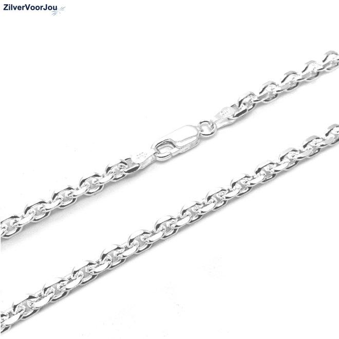 Zilveren anker ketting 50 cm en 4 mm breed
