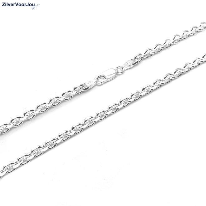 Zilveren anker ketting 60 cm en 4 mm breed