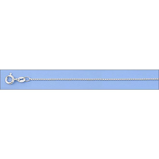 Zilveren box ketting 50 cm 1mm breed