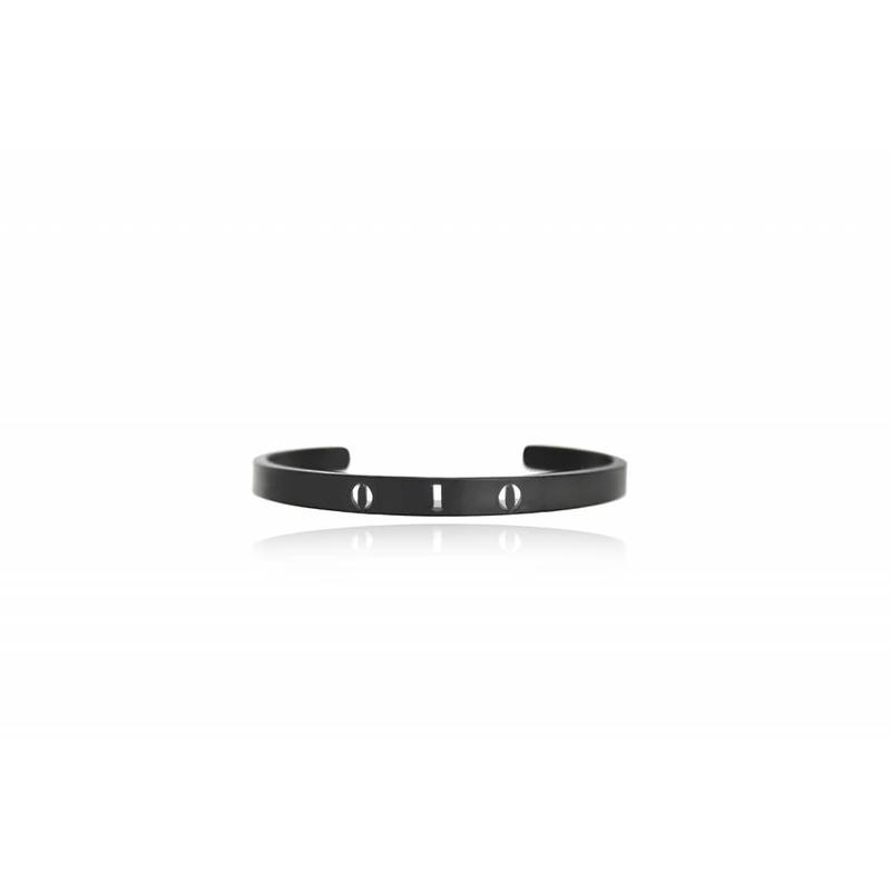 Rotterdam bracelet - cuff - Gun metal