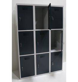 Metalen 9 deurs Lockerkast