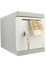 o27 Kunststof Mini Locker - Witte deur - Met afstortgleuf voor koeriers