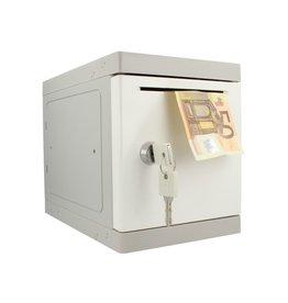 o27 Kunststof Mini Locker - Witte deur - Met afstortgleuf