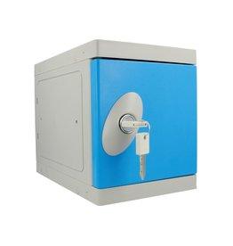 o27 Kunststof Mini Locker pandslot - blauwe deur