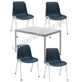 o27 Kantine tafel en stoelen