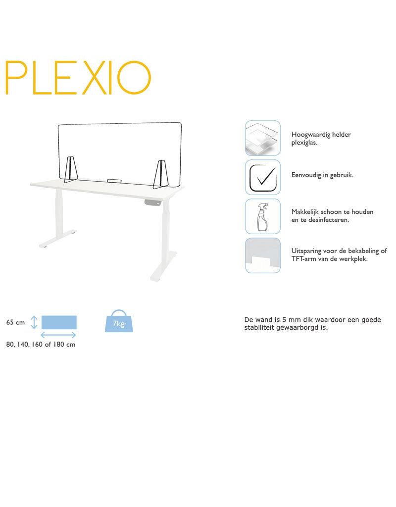 Plexiglas Bureauwand 80/140/160/180 x 65