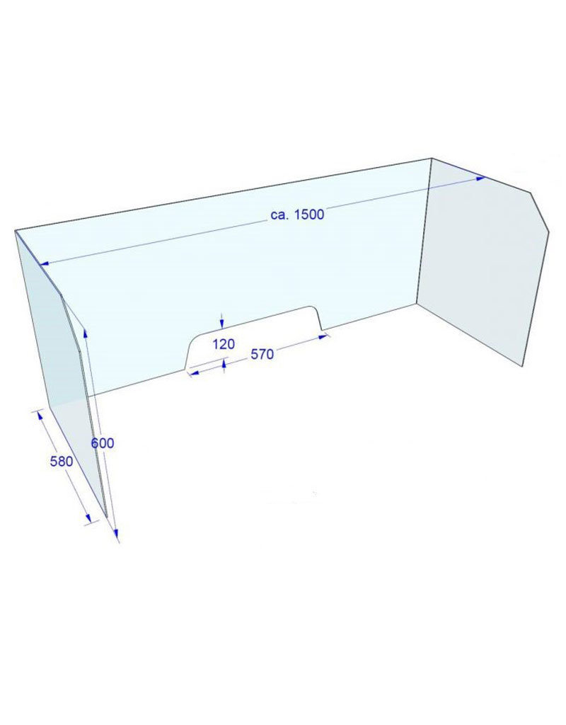 Acrylglas Bureauscherm 150x60