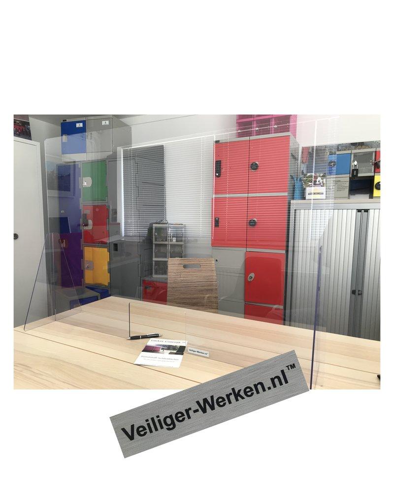 o27 Plexiglas Balie scherm met opening