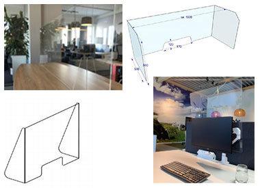 Plexiglas schermen