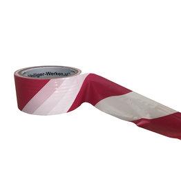 Afzet lint rood-wit 50m.
