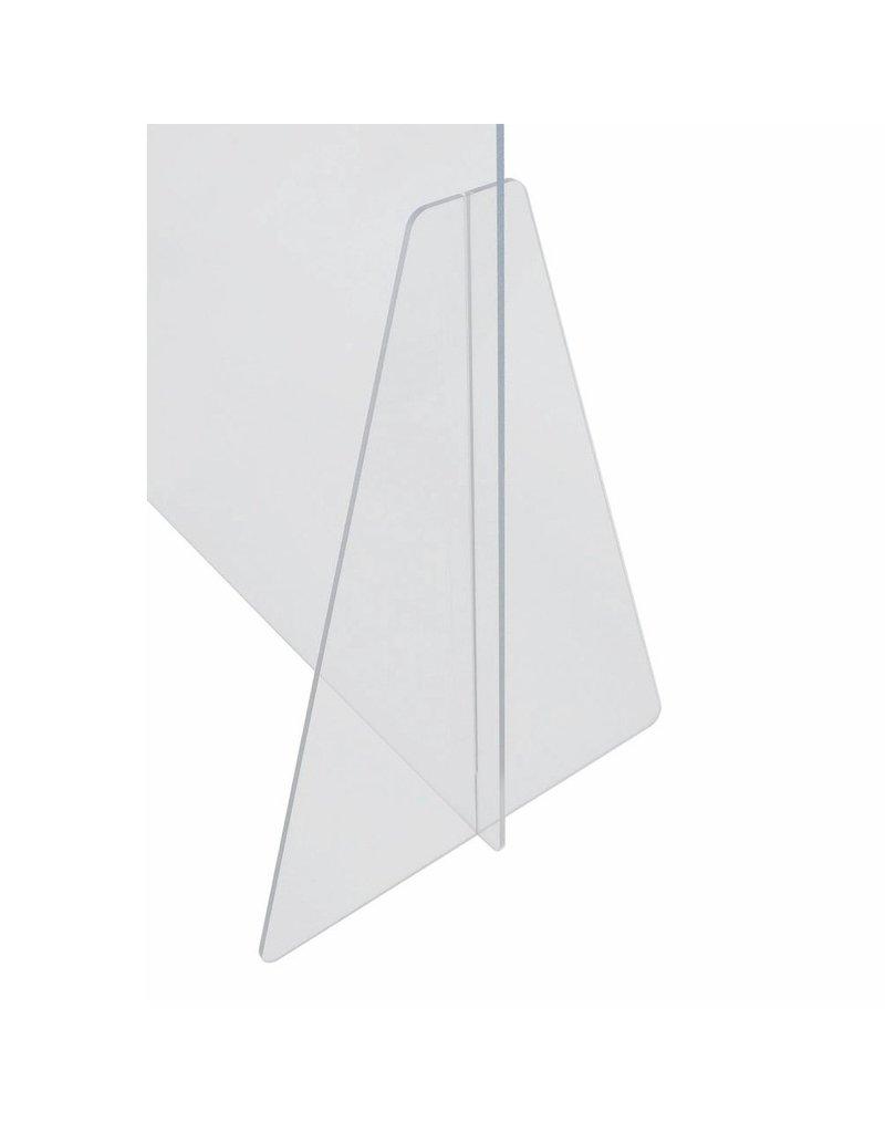 Plexiglas Balie scherm met opening 115x80