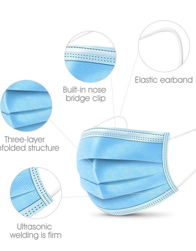 Mondmasker - Kwaliteit conform IIR - 50st