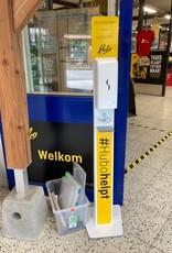 OPTIE: Belettering op zeepdispenser - staand model