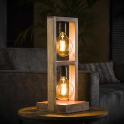 Tafellamp 2L modulo houten frame