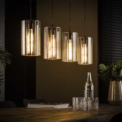 Hanglamp 4L artdeco cylinder
