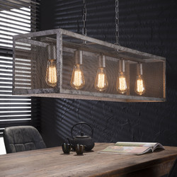 Hanglamp 5L rechthoek raster