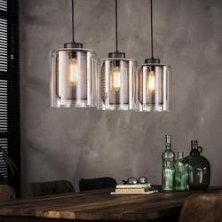 Hanglamp 3xø20 raster met glas