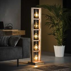 Vloerlamp 5L Modulo houten frame