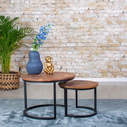 Salontafel Leonardo | set van twee salontafels