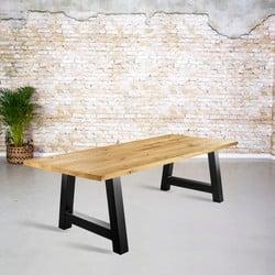 Massief eiken tafel |  rechte rand en A-poot