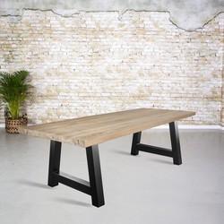 Massief oud eiken tafel |  A-poot