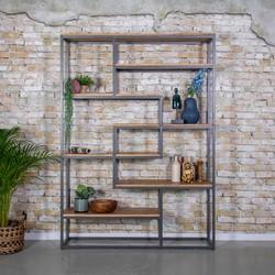 Industriele boekenkast Saamph 210x150cm