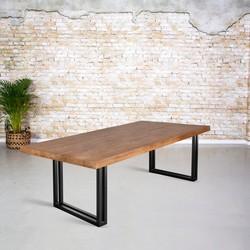 Eettafel mangohout |  U-poot uit koker
