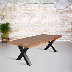 Eetkamertafel mangohout | X-poot