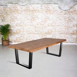 Eettafel mangohout |  V-poot trapezium