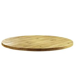 Massief rond eiken tafelblad