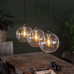 Hanglamp Olivia 3L Ø30 sphere helder glas