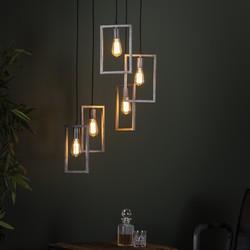 Hanglamp Denise 5L framed  getrapt