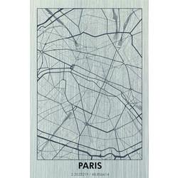 Schilderij | Parijs zilver