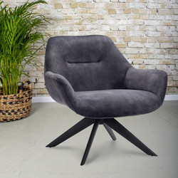 Fauteuil Hillary Antraciet