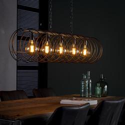 Hanglamp Celine 5L spiraal Ø28 cilinder