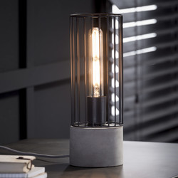 Tafellamp cilinder wire frame