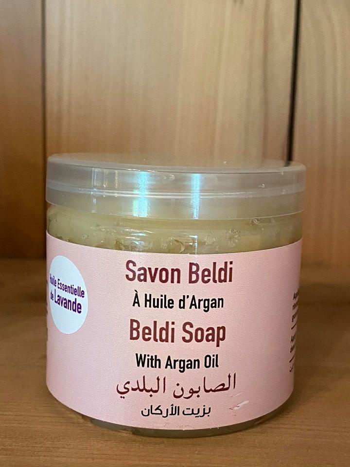 Coöperative Targanine Hammam scrubzeep op basis van 100% pure arganolie + essentiël olie van Lavendel 200 gr