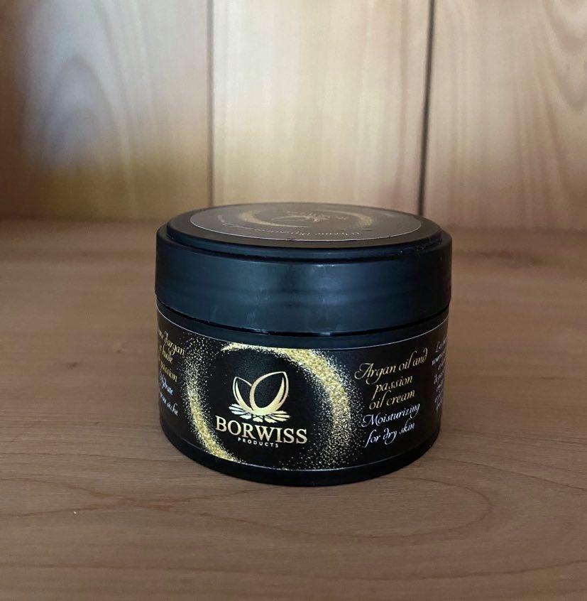Coöperative Borwiss Crème hydratante visage (nuit) l'huile d'argan bio et fruit de passion - 100 gr