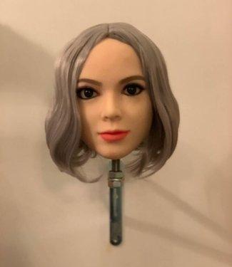 Damespruik 7 kort asgrijs stijl haar in bobline model