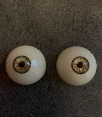 Kleur ogen groengrijs met bruine binnenrand