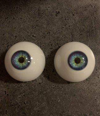 Kleur ogen blauw met groene binnenrand