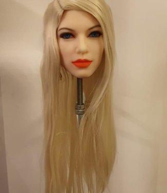 Damespruik 37 lang blond stijl haar
