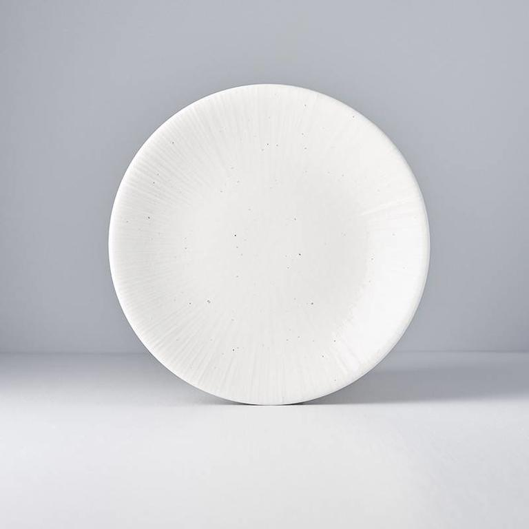 Radiating Line White Cloud round plate 24cm