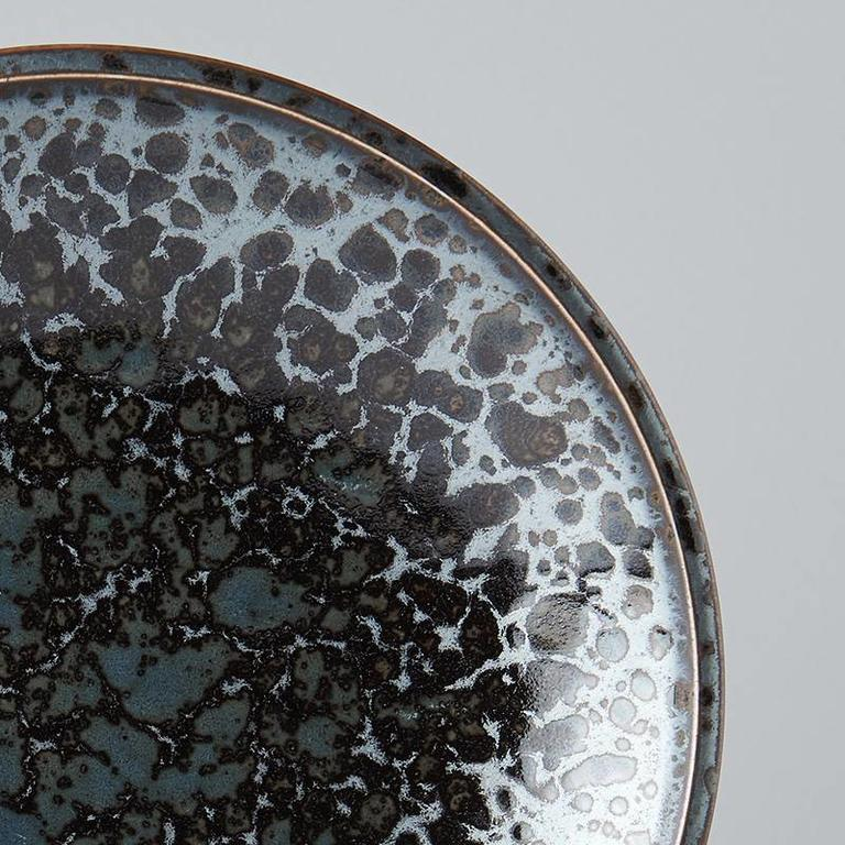 Black Pearl round side plate 20cm