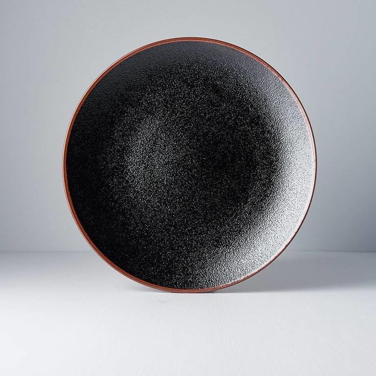 Tenmokku large dinner plate 29cm