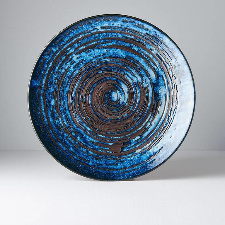 Copper Swirl Large dinner plate 29cm