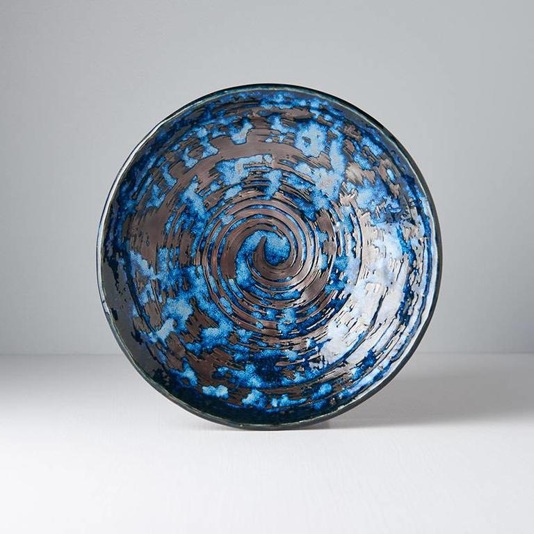 Copper Swirl shallow open bowl 24cm