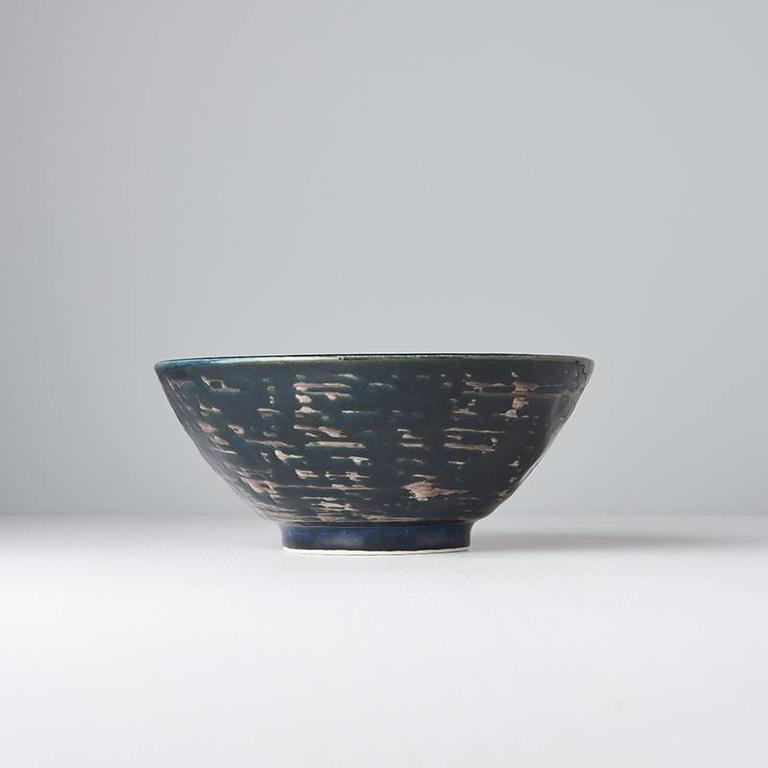 Copper Swirl udon bowl 20cm x 8.5cm