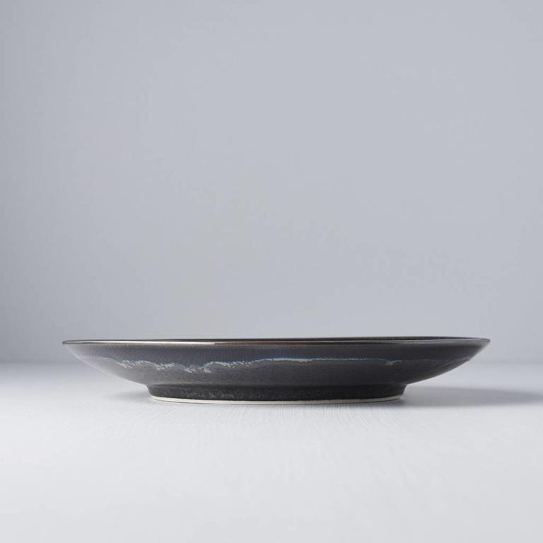 MATT W' SHINY BLK EDGE - DINNER PLATE ROUND 25D