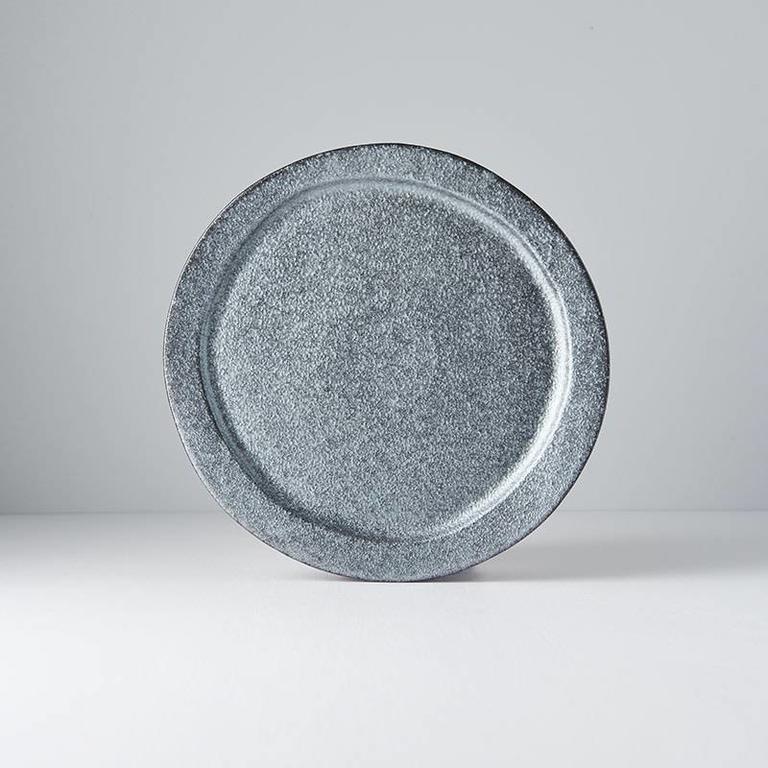 Craft Black Plate Round Off Centre 25.5cm